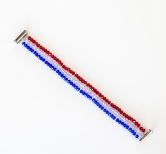 Red, White & Blue Crystal Bracelet