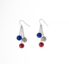 RWB Pavé Crystal Ball Earrings