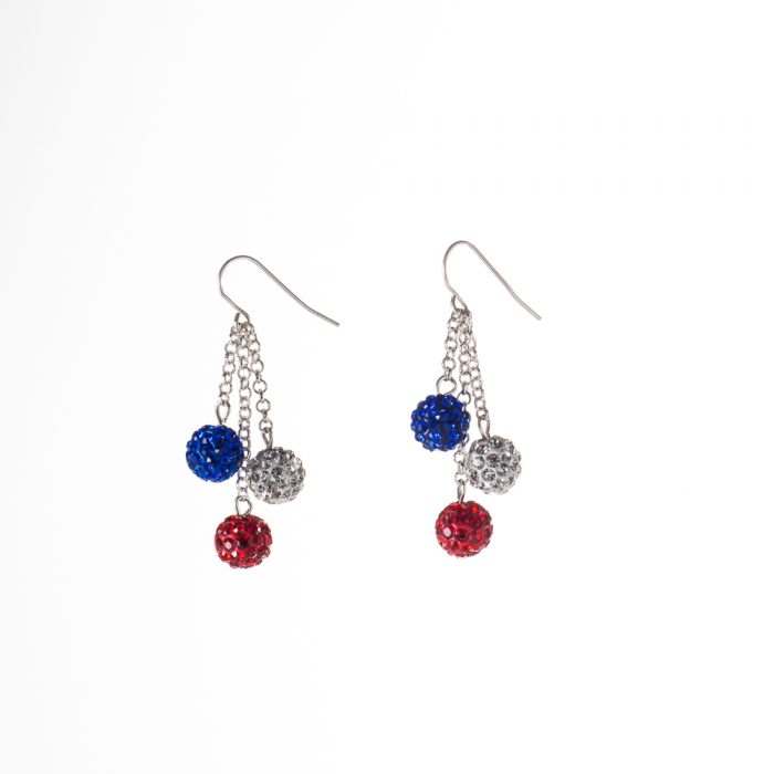 Rwb Pavé Crystal Ball Earrings