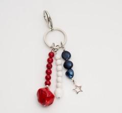 RWB Key Chain/Purse Charm