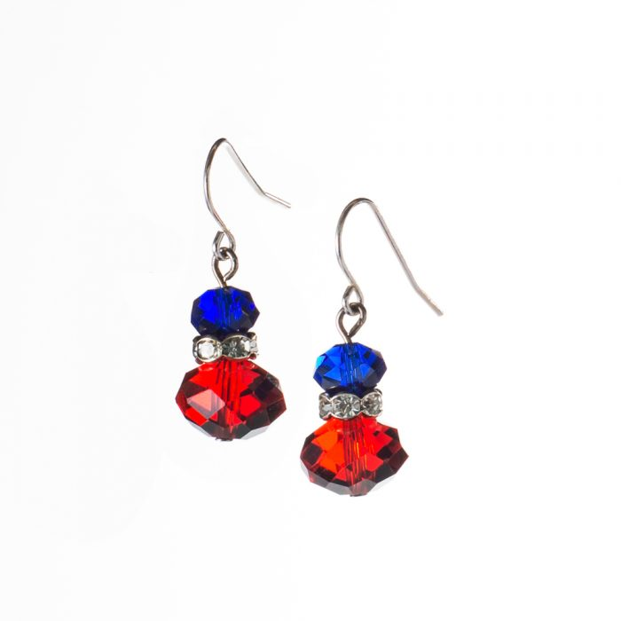catilla earrings octagon jewelry product sterling crystal
