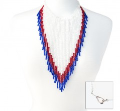 RWB Cowgirl Crystal Necklace