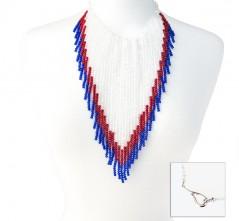 RWB Cowgirl Crystal Necklace