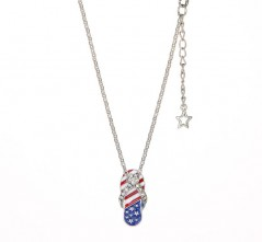 Stars & Stripes Flip Flop Necklace
