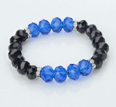 Blue & Black Crystal Bracelet