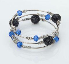 Blue & Black Wrap Bracelet