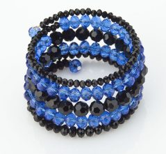 Blue Lives Matter Crystal Wrap Bracelet