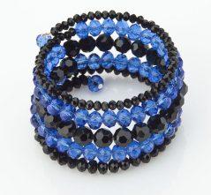 Blue Lives Matter Crystal Wrap Bracelet
