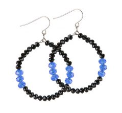Blue Lives Matter Jewelry Hoop Earrings